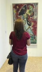 """La donna luna"" (1942) by Jackson Pollock @ Peggy Guggenheim Collection"