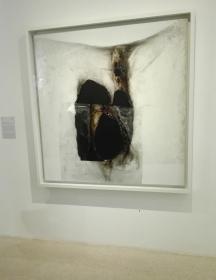 """Bianco B"" (1965) by Alberto Burri @ Peggy Guggenheim Collection"