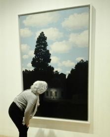 """L'empire des lumières"" (1953-54) by René Magritte @ Peggy Guggenheim Collection"
