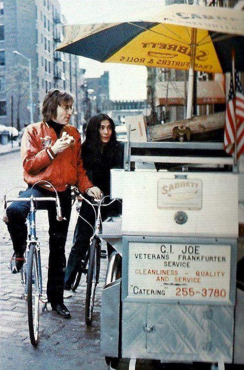 John Lennon e Yoko Ono a New York City, 1972