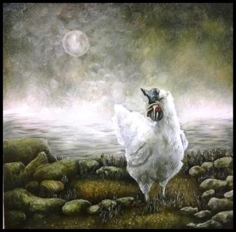 Laura Saddi - 2013. Farine animali, cm. 50x50, olio su tela, 2013, collezione privata