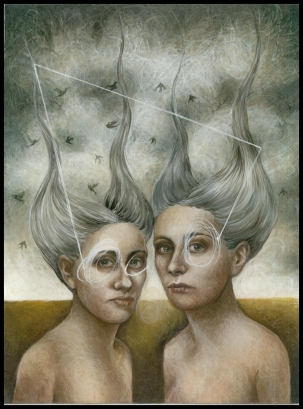 Laura Saddi - 2014. Twins, 30.40, olio su tela, 2014