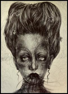 Laura Saddi - 2014.Vanità, penna bic su carta,2014