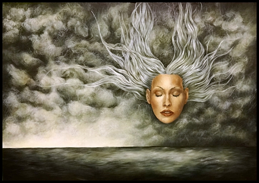 Laura Saddi - 2015. Viaggio, olio su tela, cm. 100x70, 2015