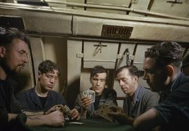 Marines giocano carte a bordo del HMS Tribune, 1942