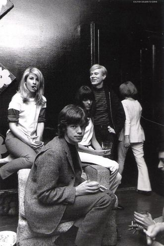 Mick Jagger, Andy Warhol e Jane Holzer, 1965