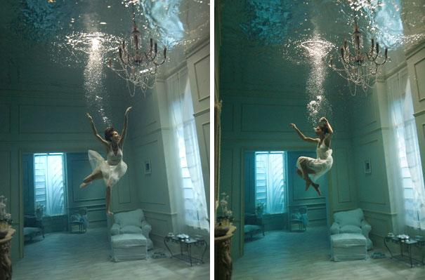 Sessione fotografica subacquea