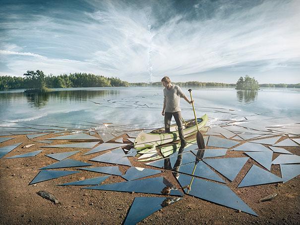 Lago specchiato