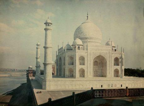 Vista del Taj Mahal dal fiume Jumna, 1923