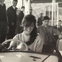 Claudia Cardinale sull'autoscontro, 1966
