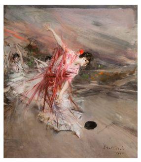 Giovanni Boldini, La danzatrice spagnola, olio su tavola, 40 x 35 cm