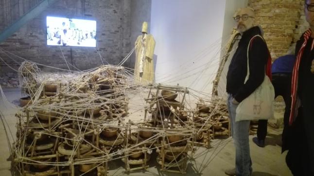 "Biennale Arte 2017 – Arsenale - ""Mama say Make I dey go, she dey my back"" di Jelili Atiku (Nigeria)"