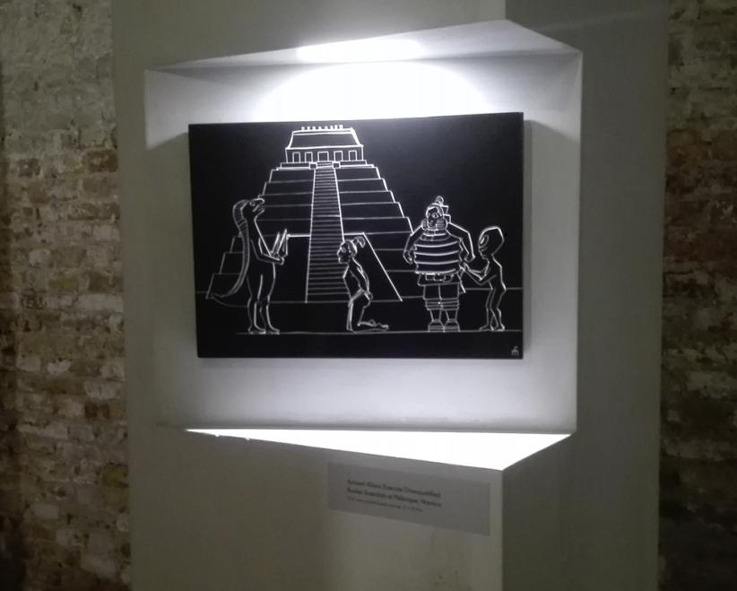 "Biennale Arte 2017 - Arsenale - Padiglione Lettonia - ""Guided Shopping Tour for Extraterrestrials at Champs-Élysées, Paris"" di Miķelis Fišers (Lettonia)"