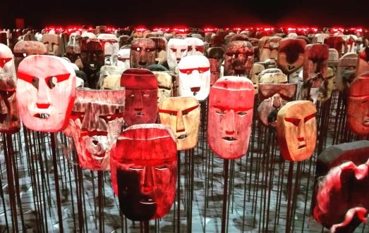 "Biennale Arte 2017 - Arsenale - Padiglione cileno - ""Werken"" di Bernardo Oyarzun (Cile)"