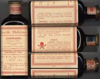 Lloyd Brothers Specific Medicine. Cannabis al 74% alcohol, 1910