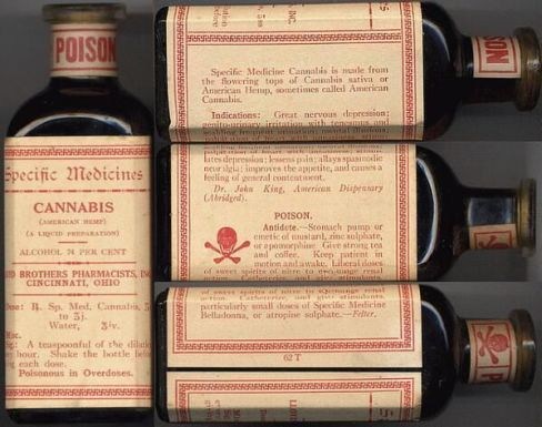 Lloyd Brothers Specific Medicine. Cannabis al 74% alcohol, 1910