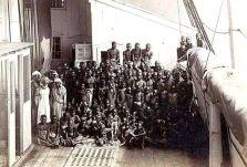 Una delle rare fotografie di una nave piena di schiavi. Foto scattata da Marc Ferrez nel 1882