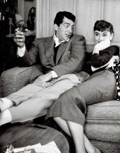 Audrey Hepburn con Dean Martin alla Paramount Studios, 1953