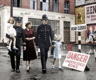 'C' Division London Metropolitan Police Officers durante la seconda guerra mondiale
