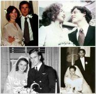 Futuri presidenti nei loro giorni di nozze