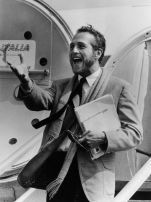 L'arrivo di Paul Newman all'aeroporto di Venezia, nel 1963