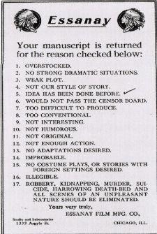 Lettera di rifiuto c.1907-1925