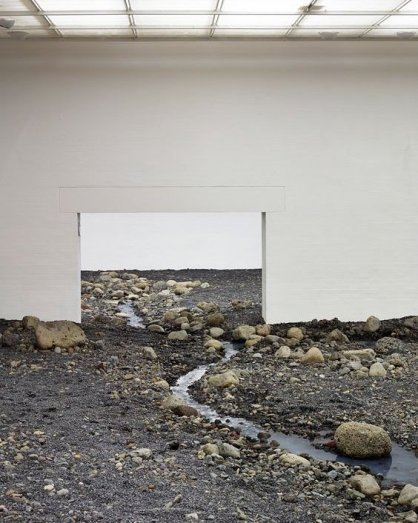 Olafur Eliasson, Riverbed, 2014, installation view, Louisiana Museum of Modern Art