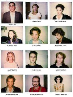 Polaroid per audizione scattate dal direttore del casting Mali Finn intorno agli anni '80