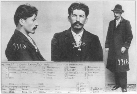 Registrazione all'Impero russo di Joseph Vissarionovich (Stalin), 1911
