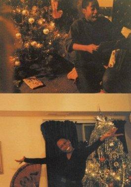 Un giovane Tupac la mattina di Natale, 1982