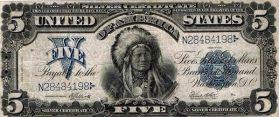 $ 5 Silver Certificate, 1899. L'unica banconota USA con un capo indiano americano nativo su di esso