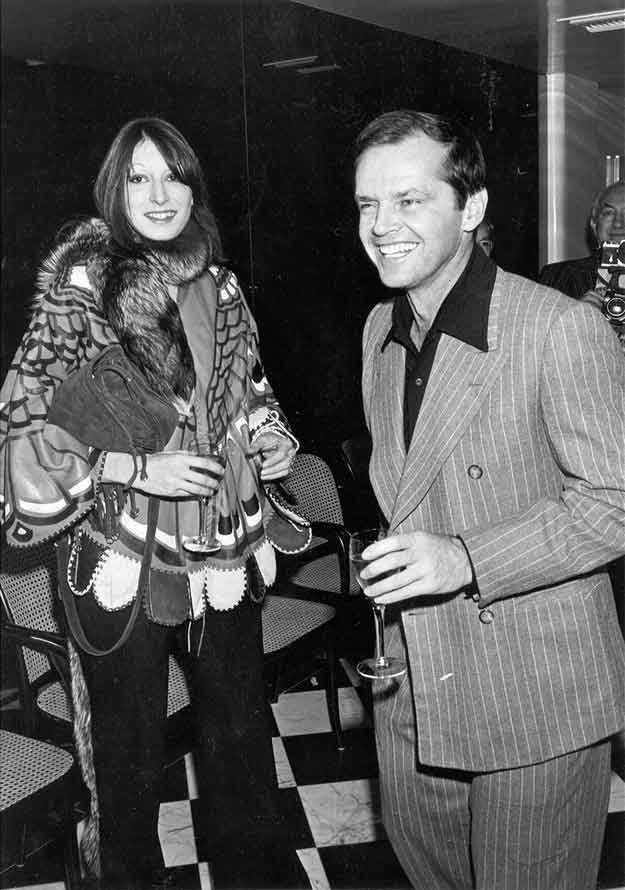 Anjelica Houston e Jack Nicholson a un party