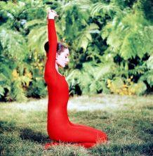"Audrey Hepburn sul set di ""Green Mansions"""
