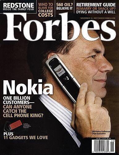 Copertina di Forbes 10 anni fa
