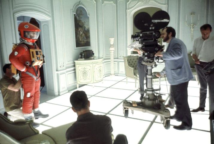 """Dietro le quinte di """"2001: Odissea nello spazio"""" (1968). Fotografia di Keith Hamshere"""