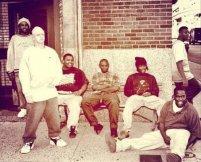Eminem con il suo gruppo rap D12, circa 1990