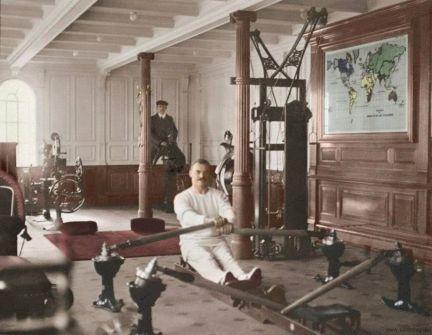Foto colorata del Titanic