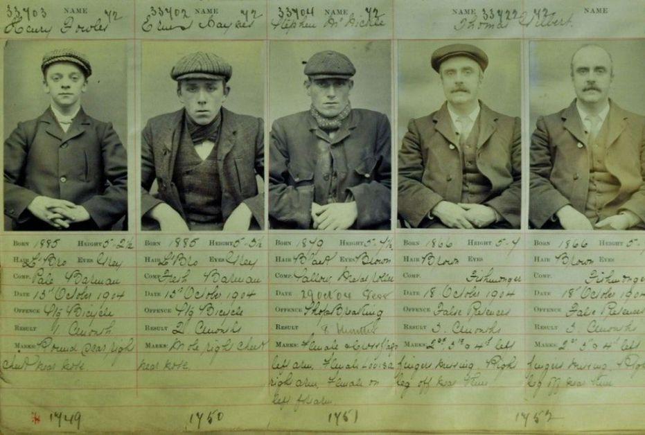 I capi d'accusa dei 'veri' Peaky Blinders a Birmingham, (1904)