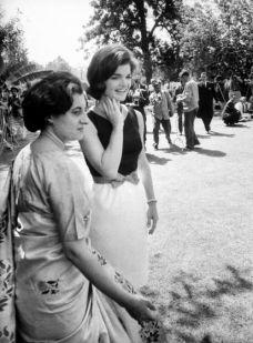 Jackie Kennedy con Indira Gandhi. India (1962)