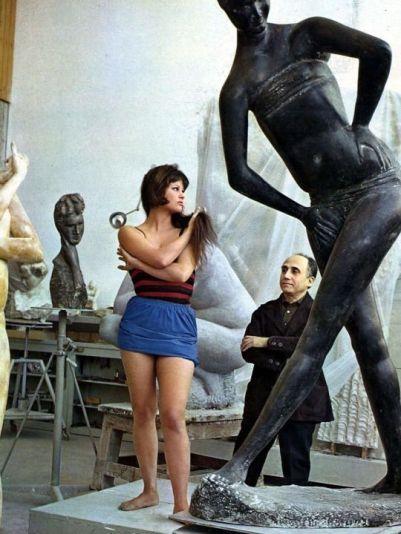 Jacqueline Bisset ed Emilio Greco
