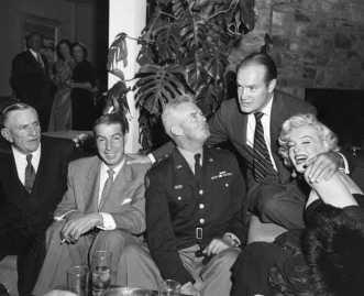Joe DiMaggio, Bob Hope e Marilyn Monroe