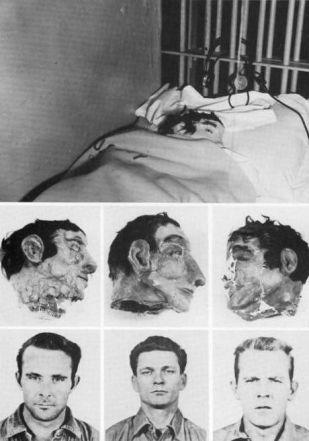 Le teste finte usate nella grande fuga da Alcatraz del 1962