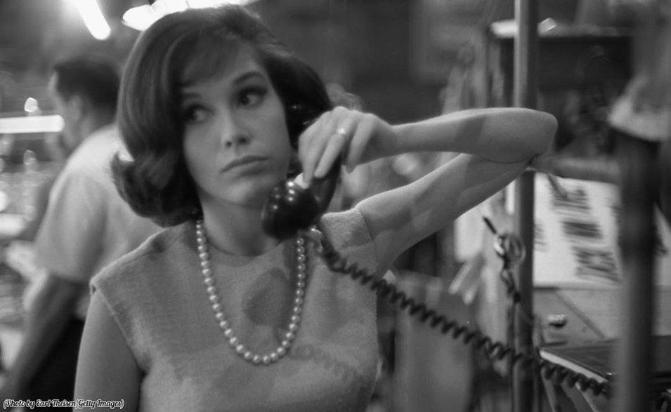 Mary Tyler Moore durante le prove per The Dick Van Dyke Show, Los Angeles, CA, 1963