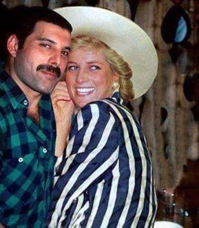 Principessa Diana e Freddie Mercury