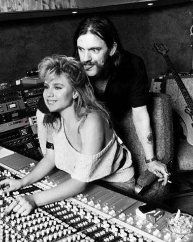 """Samantha Fox and Ian Fraser """"Lemmy"""" Kilmister, 1983"""