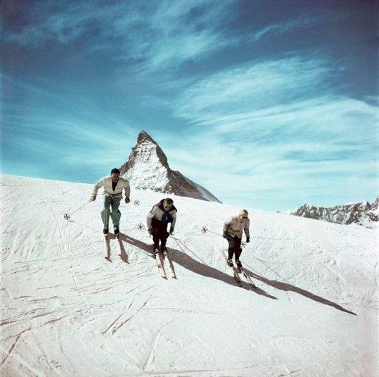 Sci in Svizzera e in Austria, 1949 - 1950. Fotografia di Robert Capa
