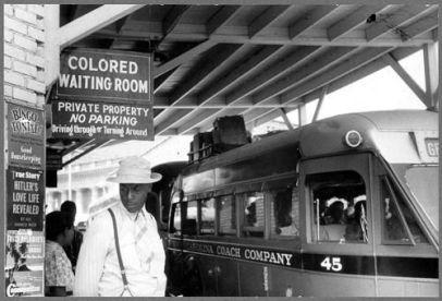 Stazione ferroviaria segregata, USA, anni '60