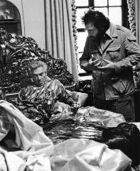 The Godfather - sul set durante la famigerata scena della testa di cavallo