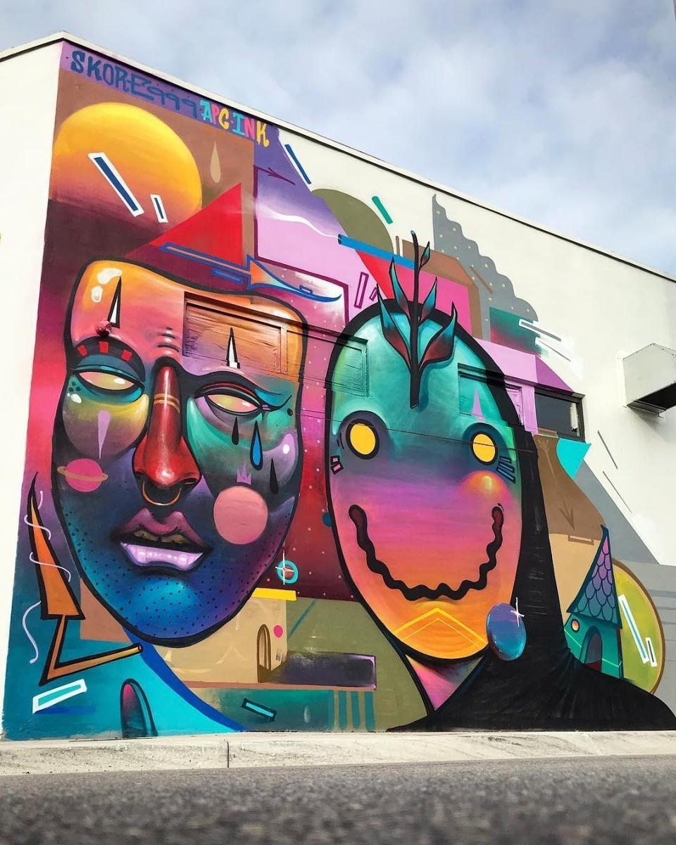 Streetart News [wall 1426] – Tres Nueves (999), Nafir, JDL