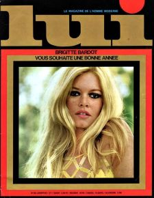 Brigitte Bardot nella copertina della rivista Lui, 1960